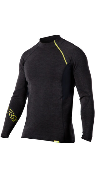 NRS M's HydroSkin 0.5 L/S Shirt Charcoal Heather